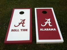 Custom made Cornhole Boards Set  Alabama Crimson by clayspears, $160.00