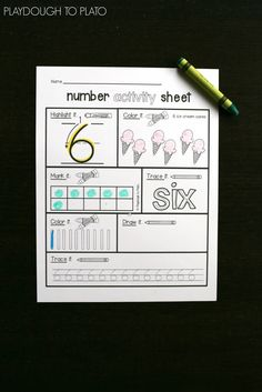 What an awesome way to teach kids number formation!!