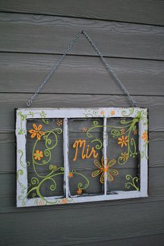 A friend found this really old window pane for me! After decorating, it hangs outside my porch! A friend found this really old window pane for me! After decorating, it hangs outside my porch! Window Pane Decor, Old Window Panes, Window Frames, Window Art, Window Ideas, Barn Windows, Old Windows, Windows And Doors, Diy Interior Home Design