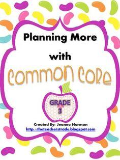 Common Core Planning Checklists (Third Grade)