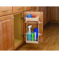 Wood Classic Sink Base Door Storage Organizer designed for Sink Base Cabinets. Each Unit Contains: Sink Base Door Storage unit, polymer upper tray insert, adjustable mounting brackets, and hardware. Under Sink Storage, Door Storage, Storage Shelves, Storage Ideas, Storage Rack, Small Storage, Storage Solutions, Hidden Storage, Closet Storage