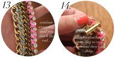 DIY: Woven Chain Collar Necklace | Stripes