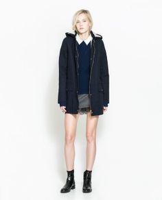 SHEEPSKIN LINED PARKA from Zara