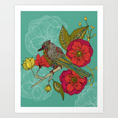 Contented Constance Art Print by Valentina - $18.00