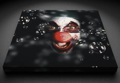 Clown - Canvas Canvas Frame, Painting, Art, Art Background, Painting Art, Kunst, Paintings, Performing Arts, Painted Canvas