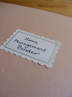 """Getting ideas for a """"Family Binder"""" this seems to be a good start!  