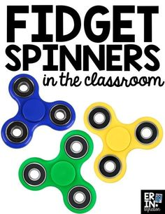 Fidget Spinners in t