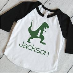 Boy First Birthday Dinosaur Shirt. This shirt is perfect for your little one's birthday or all year round! We at Bump and Beyond Designs love to help you celebrate life's precious moments! * At Checko