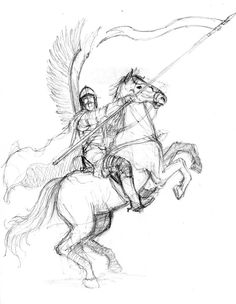 Winged Hussar on horse SKETCH