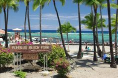 Kahalu'u Beach Park in Kona Hawaii - best place for snorkeling from the shoreline.