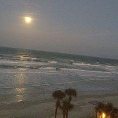 Moon over the beach