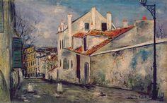 """Montmartre"""" Ces débits louches, ces profonds corridors de rue(...)cette lumière qui n' est ni celle du jour ni celle des becs de gaz tombant sur les pavés..."""" F Carco"""