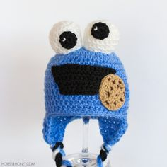 Cookie Monster Baby Hat