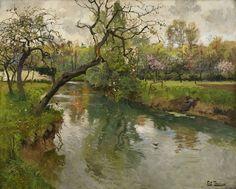 Frits Thaulow (1847-1906) - Landscape, oil on canvas, 67 x 82 cm.