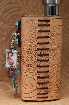 Embossed Tooled Western Custom Leather Vape / Vaping by SillyNilly