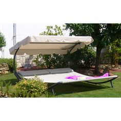 Leco Doppel-Sonnenliege mit Dach - Preisvergleich | eVendi