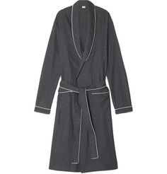 Zimmerli Herringbone Cotton-Flannel Robe | MR PORTER