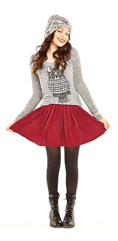 Bethany Mota's new fashion line at Aeropostale wow love the top skirt and legging and the hat love it!! 9,0