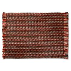 Yarn Placemat with Fringe Brown - Threshold™