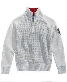 Tommy Hilfiger Half-Zip Cotton Sweater, Toddler Boys - Sweaters - Kids & Baby - Macy's