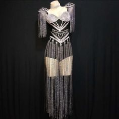 Kpop Fashion Outfits, Stage Outfits, Dance Outfits, Fashion Dresses, Rompers Women, Jumpsuits For Women, Estilo Madison Beer, Showgirl Costume, Looks Black