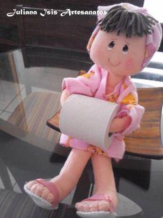 Geri Dönüşüm Projeleri Cute Dolls, Doll Face, Little People, Ideas Para, Crafts, Home Decor, Bath Room, Spaces, Rag Dolls