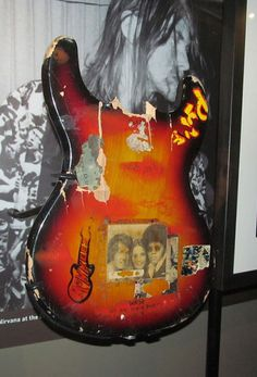 Kurt Cobain's Univox Hi-Flyer  This guitar is notable for being the first guitar Kurt Cobain ever smashed. Nirvana was playing at Evergreen State College in Olympia, Washington, on October 30, 1988, and Kurt destroyed his guitar in a fit of passion at the conclusion of the show.