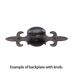 top knobs normandy collection knob backplate in patine black