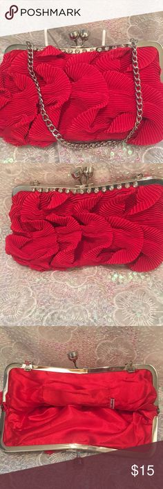 Red Clutch Evening Purse Exquisite red clutch purse! Be the lady in red who turns heads with this wonderful purse from my Sara Alexandra line designed for my beautiful daughters! Sara Alexandra Bags Clutches & Wristlets