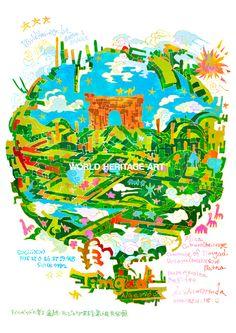 #0594-1 #ティムガッドの考古遺跡 #アルジェリア民主人民共和国Timgad_ #Algeria_DZ_ #Africa_ Cultural_ Commune of #Timgad, #Wilaya (province) of #Batna_ (ii)(iii)(iv)_ N35 27 0 E6 37 59.988_ 1982_ Property:91ha_ Ref:194 #WorldHeritage #Art #KoichiMatsuda