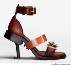 Modeconnect.com - The Acne 'Lily' sandal from SS2012 is a shoe in a shoe, with a woman's high heel combined with men's shoe detailing.