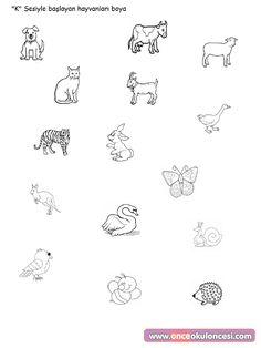 """""""K"""" Sesiyle Başlayan Hayvanları Boya - Önce Okul Öncesi Ekibi Forum Sitesi - Biz Bu İşi Biliyoruz"""