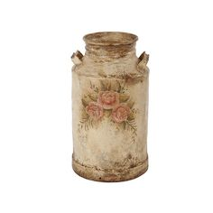 Handpainted Milk Canister, Brazil Baroque, Santa Barbara CA ❤ liked on Polyvore featuring fillers, home, vintage, accessories and decor
