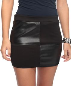 Look 2: Leatherette Patch Skirt / F21 $15.80