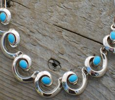 "Native American turquoise ""Whirling Wind"" necklace"