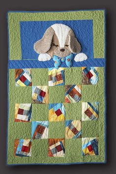 3D Puppy Quilt made for baby Lincoln.   I used scrapes of cotton and fleece.