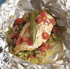 Chicken Breasts en Papillotes with Celery, Bay Leaf, and Tomato