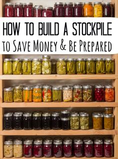How to build a stockpile to save money and be prepared - Confused by how to start a stockpile? Don't be! This quick and easy walkthrough will show you the basics of building it (without going broke) and keeping it fresh! Easy peasy and soon you'll have a stockpile to be proud of! Great for learning how to save money on groceries and emergency preparation too!