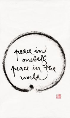 Feel the peace within and you will spread it as you go about your day... one person at a time, we can create peace for all... Namaste <3