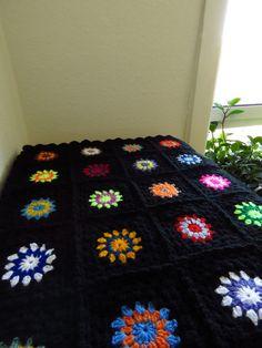Colorful Crochet Afghan Blanket Crochet Blanket by Phoenixsmiles