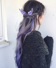 87 unique ombre hair color ideas to rock in 2018 - Hairstyles Trends Lilac Hair, Pastel Hair, Gray Hair, Ombre Hair Color, Cool Hair Color, Aesthetic Hair, Hair Again, Hair Reference, Dye My Hair