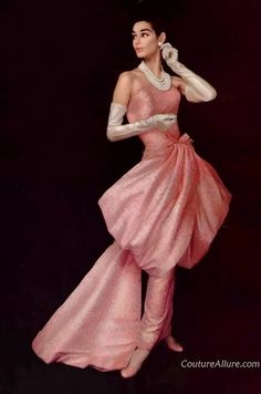 Givenchy 1956. Just beautiful . Evening gown .1950s fashion
