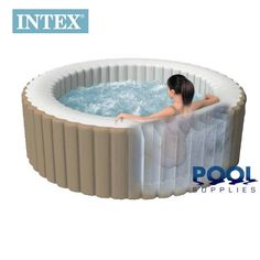 84ae1d7d04cfcb Intex Pure Spa Deluxe Inflatable 4 Person Portable Spa Hot Tub Jacuzzi  Complete Set Up - Inflatable