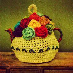 Crochet Tea cozy handmade by Red Rapunzel
