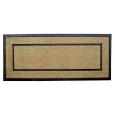 Creative Accents Dirtbuster 24 x 57 in. Single Picture Frame Outdoor Doormat - 1810