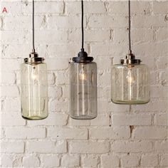 (In Stock) Modern Transparent Glass Pendant Light with 3 Lights Dining Room Lighting Ideas Living Room Bedroom Lighting