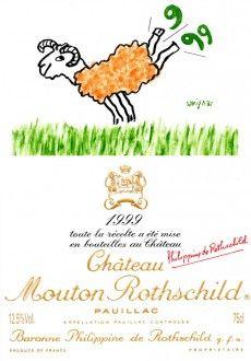 Né à Paris, de parents originaires de l'Aveyron et qui tiennent un café-restaurant, Raymond Savignac (1907-2002) manifeste très tôt un don pour la caricature.Plus de soixante-dix ans après l'affichiste Jean Carlu, qui avait réalisé la première étiquette d'artiste pour Mouton Rothschild en 1924, le dessin d'un autre maître de l'affiche, Savignac, pour 1999, fait figure de retour aux sources. D'un clin d'œil et d'une ruade, son bélier, totem de Mouton.