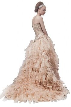 Whatabeautifullife Women's Strapless Satin Chiffon Sequin Ruffles A-line Sweep Wedding Gown Size 4 Color Gold Whatabeautifullife,http://www.amazon.com/dp/B00CECSUDG/ref=cm_sw_r_pi_dp_K.wPsb1TPQ8PMWCH