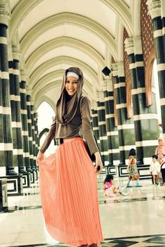 10 Inspirational Hijab Pictures maxi skirt long hijab muslim women fashion modest pleated a line beautiful