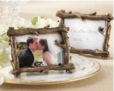 Love this Twig Frame! Maybe set on each of our tables.